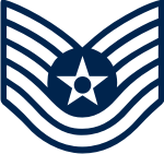 AF E-6 TSGT Technical Sergeant (Blue) Decal
