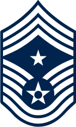 AF E-9 CCMSGT Command Chief Master Sergeant (Blue) Decal