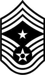 AF E-9 CCMSGT Command Chief Master Sergeant (B&W) Decal