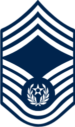 AF E-9 CMSAF 2004 Chief Master Sergeant of the Air Force (Blue) Decal