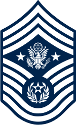 AF E-9 CMSAF Chief Master Sergeant of the Air Force (Blue) Decal