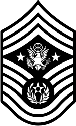 AF E-9 CMSAF Chief Master Sergeant of the Air Force (B&W) Decal